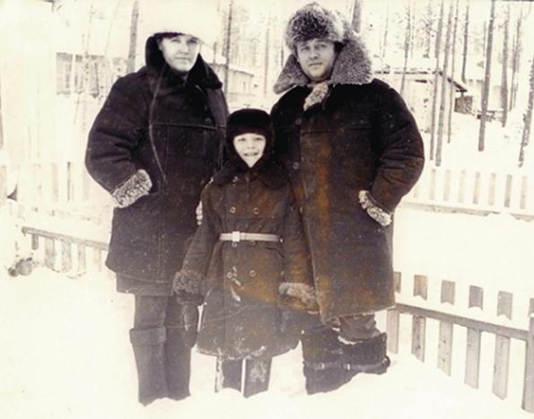 Светлана  Анатолий с сыном Сережей БАМ