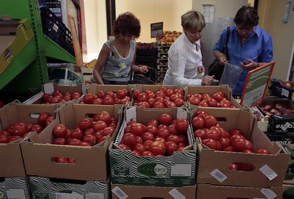 obchod, potraviny, zelenina, raj?iny
