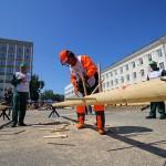 В центре столицы Коми состязались вальщики леса