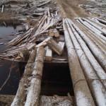 Два берега Сысолы соединяет ветхий мост «повышенной опасности»