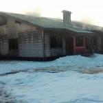 В Приозерном сгорел новый дом для переселенцев
