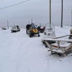На Печоре снегоход провалился  под лед