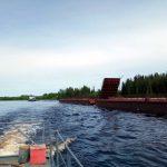 На Аныбской переправе появился  новый понтонный мост